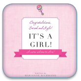 its a girl personalized book