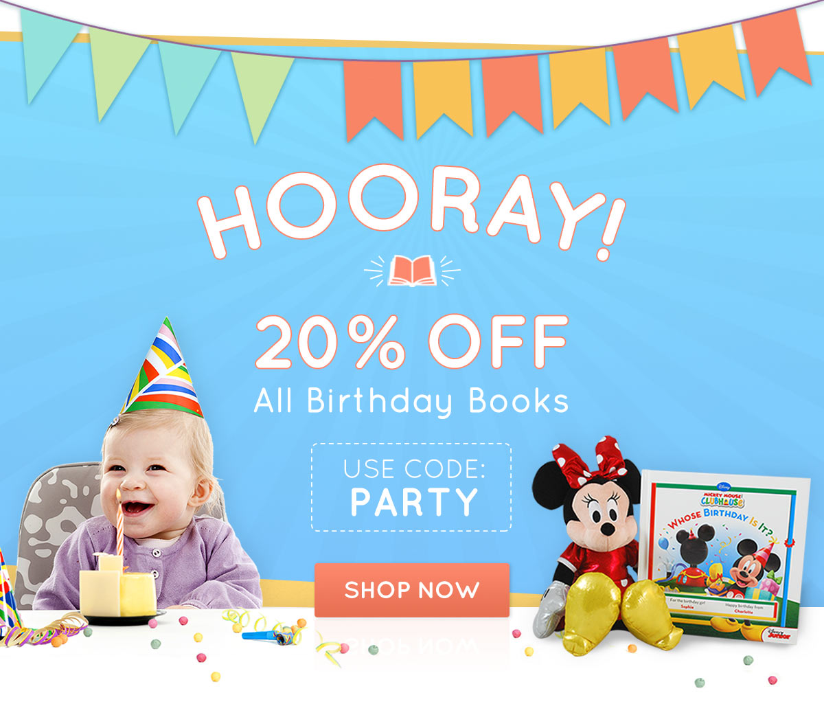 20% OFF All birthday books with code PARTY